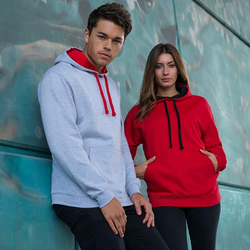 varsity hoodie contrast hood