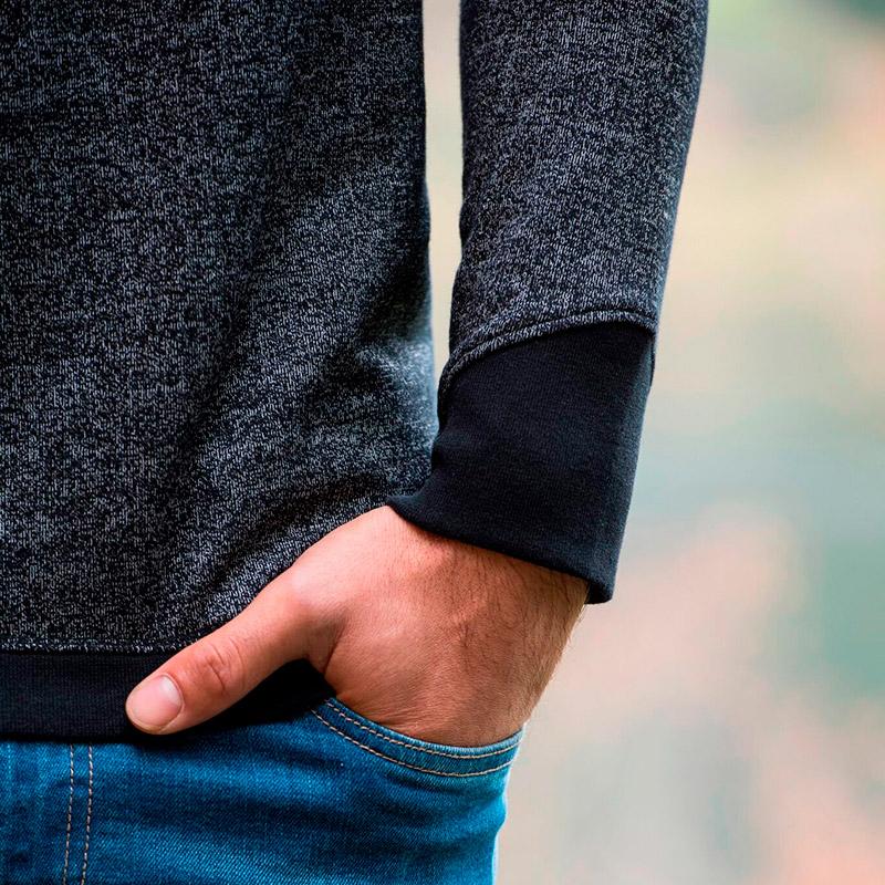sweatshirt recycled black
