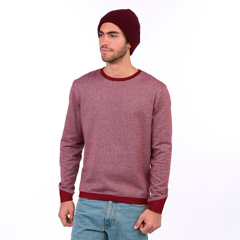 sweatshirt recycled burgundy