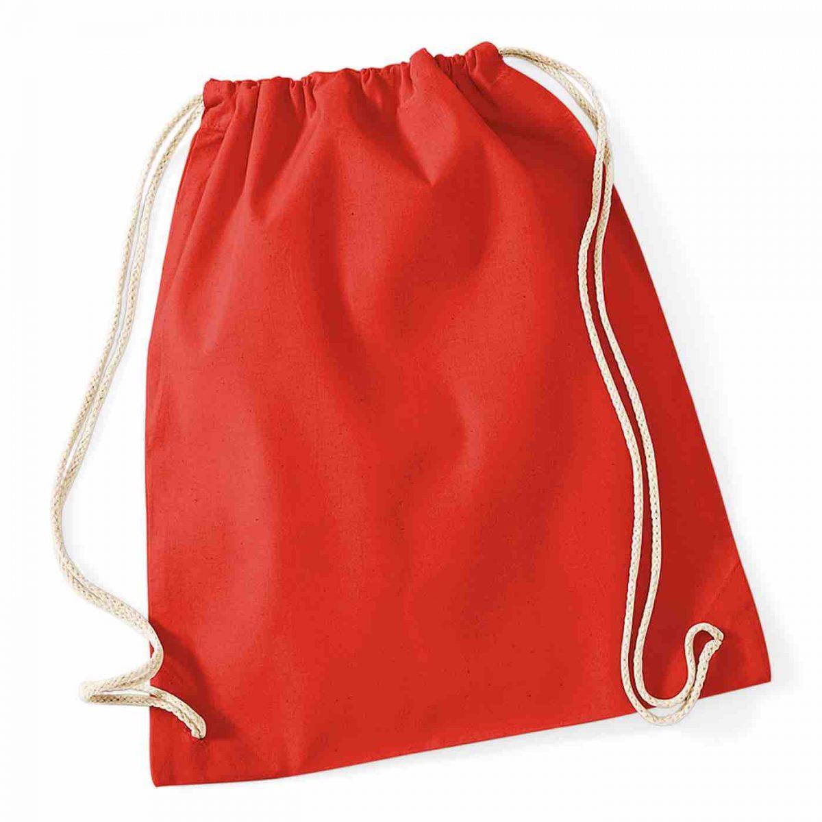 Bright Red Cotton Tote Bag