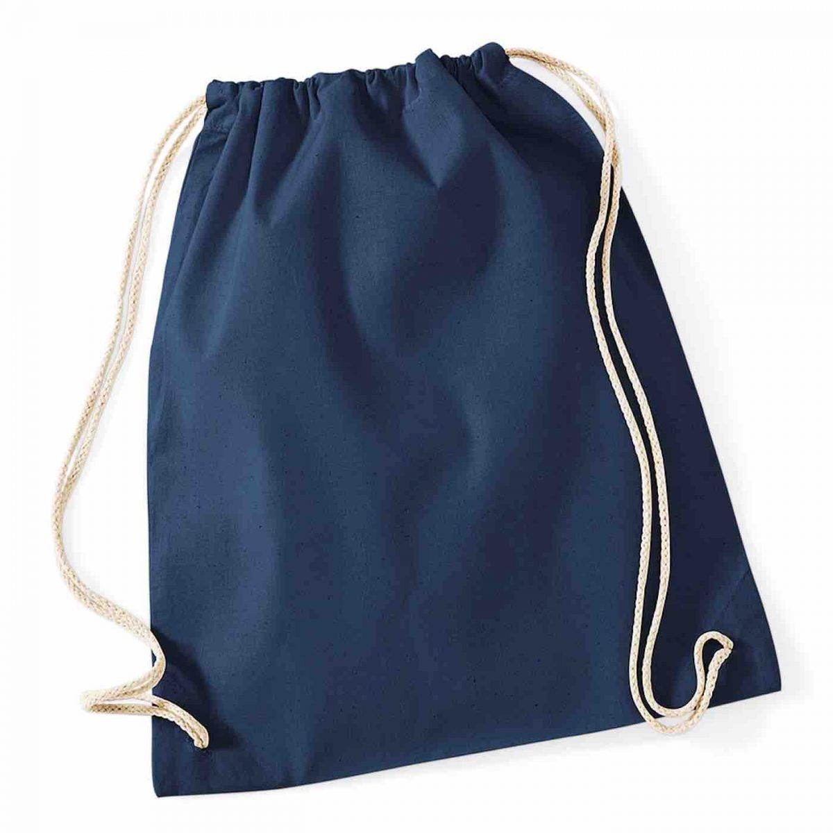 Navy Cotton Tote Bag