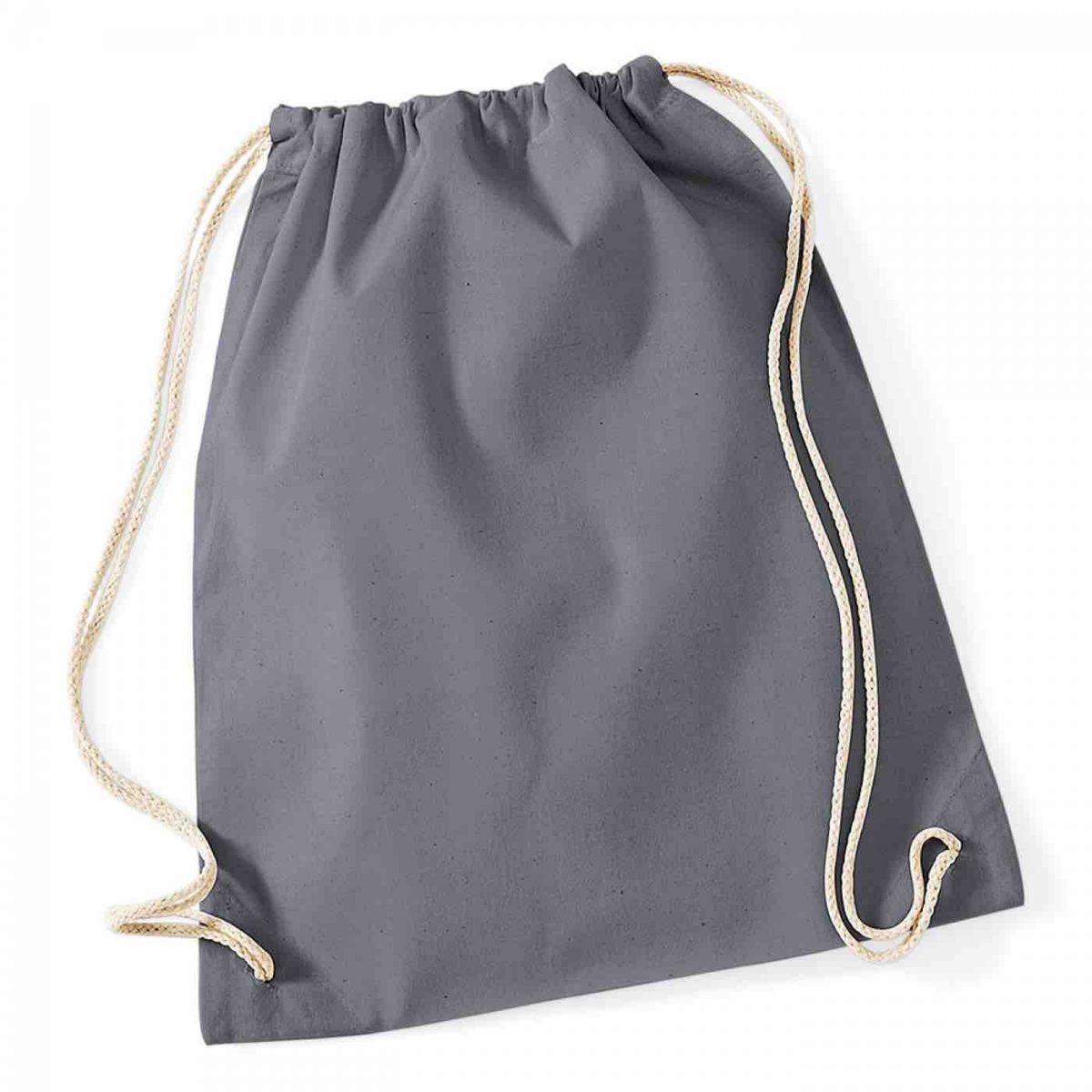 Graphite Grey Cotton Tote Bag