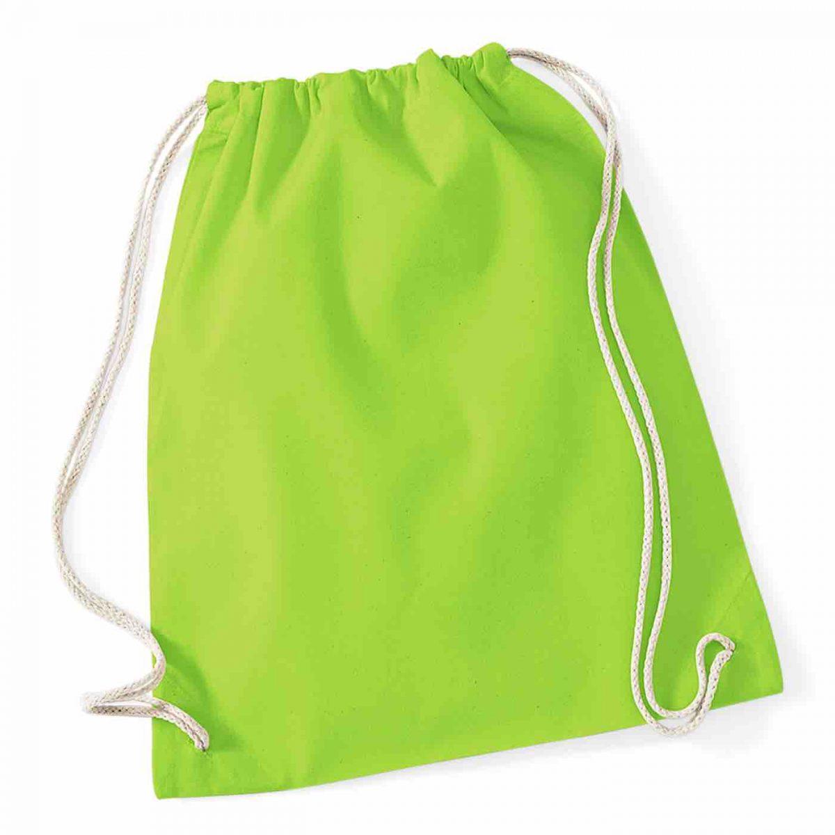 Lime Green Cotton Tote Bag