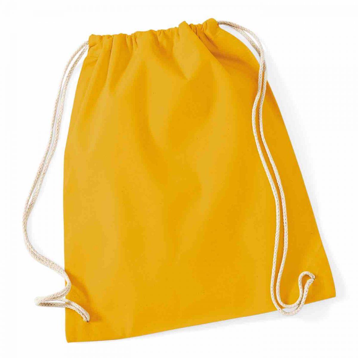Mustard Cotton Tote Bag