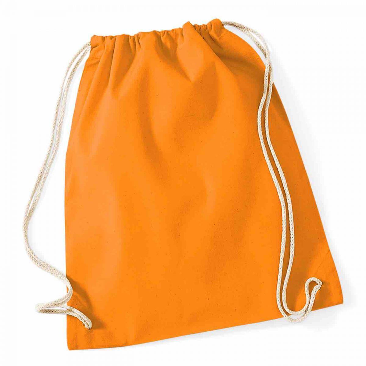 Orange Cotton Tote Bag