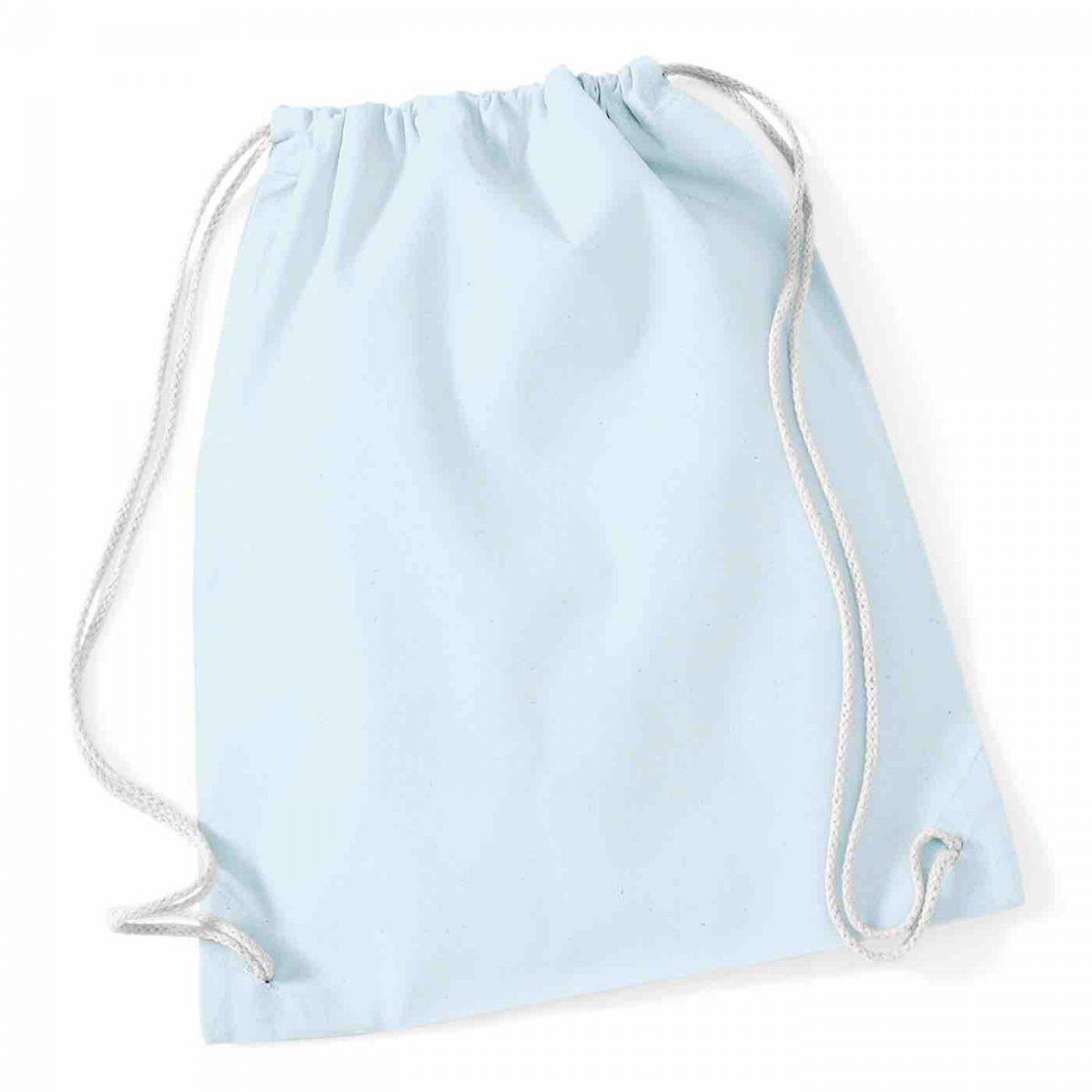 Pastel Blue Cotton Tote Bag