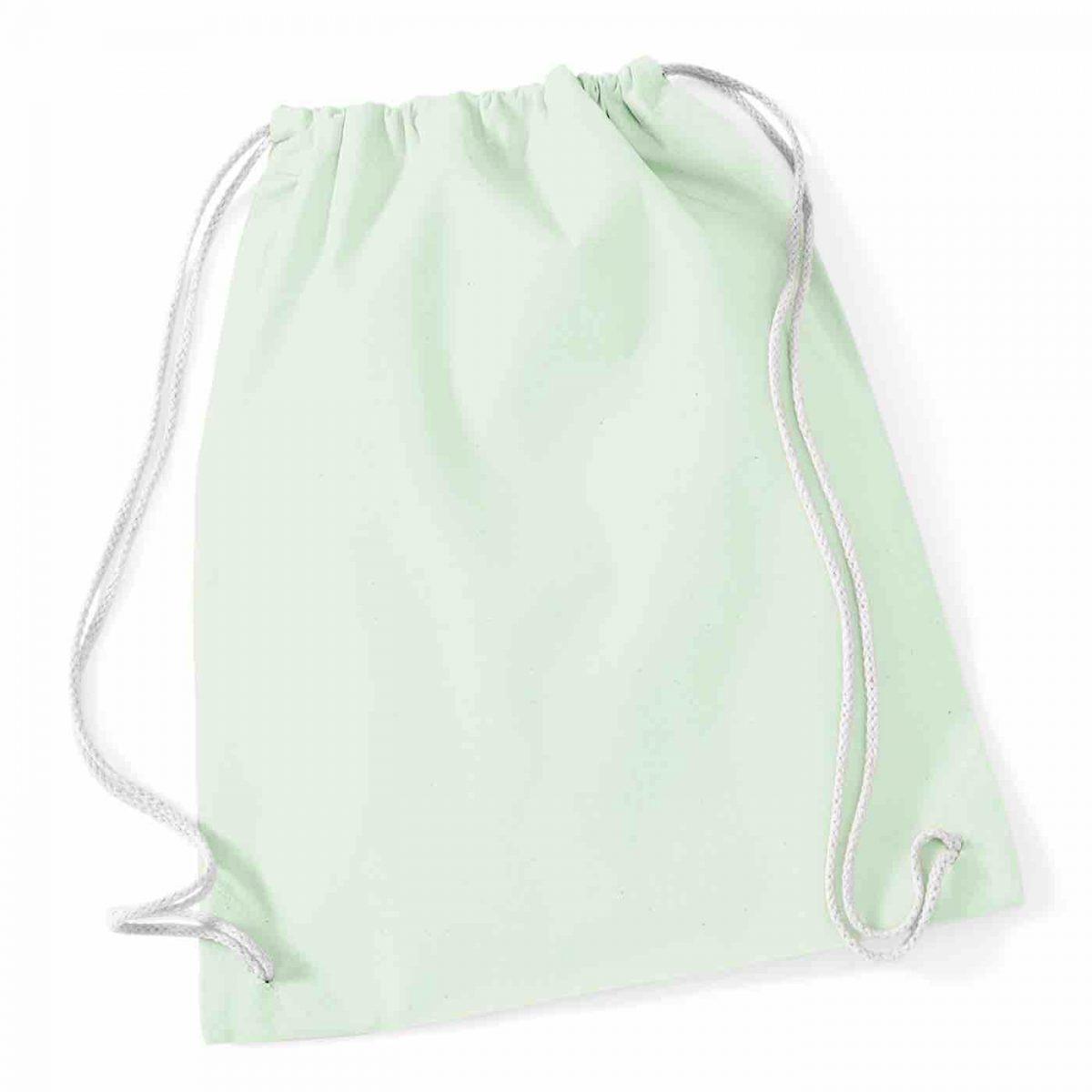 Pastel Mint Cotton Tote Bag