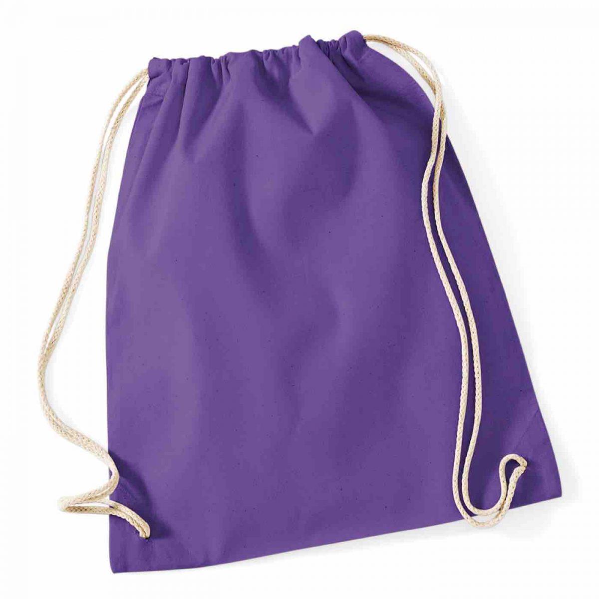 Purple Cotton Tote Bag