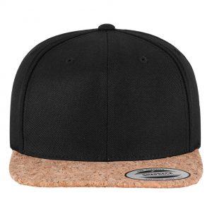 Cork snapback cap black