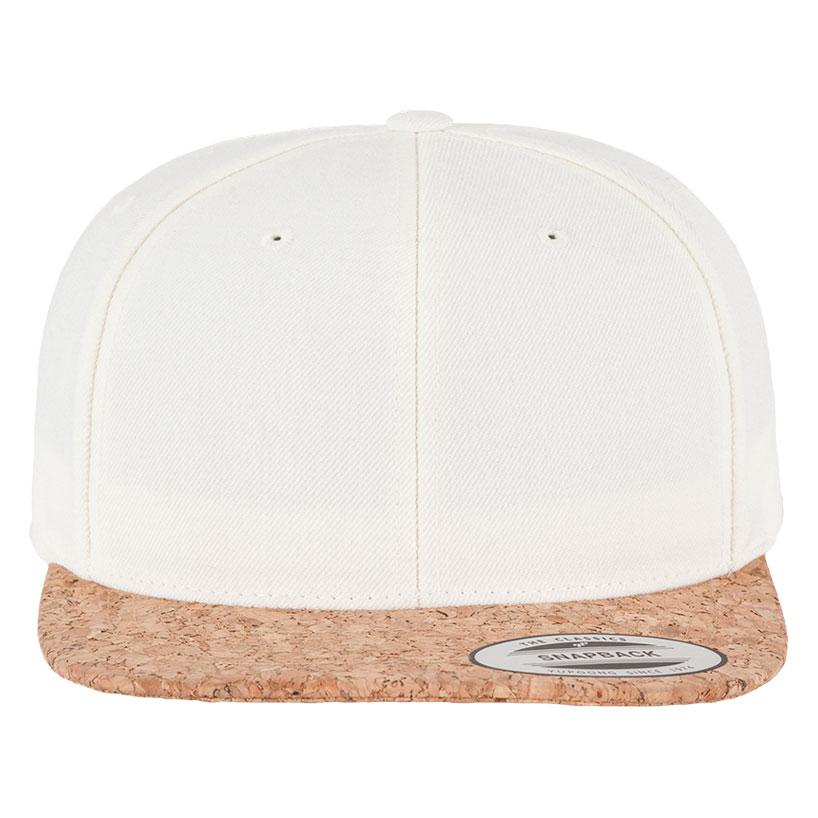 Cork snapback cap natural