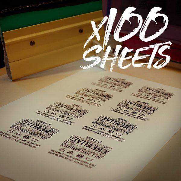 Transfer Sheets 100