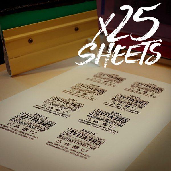 Transfer Sheets 25