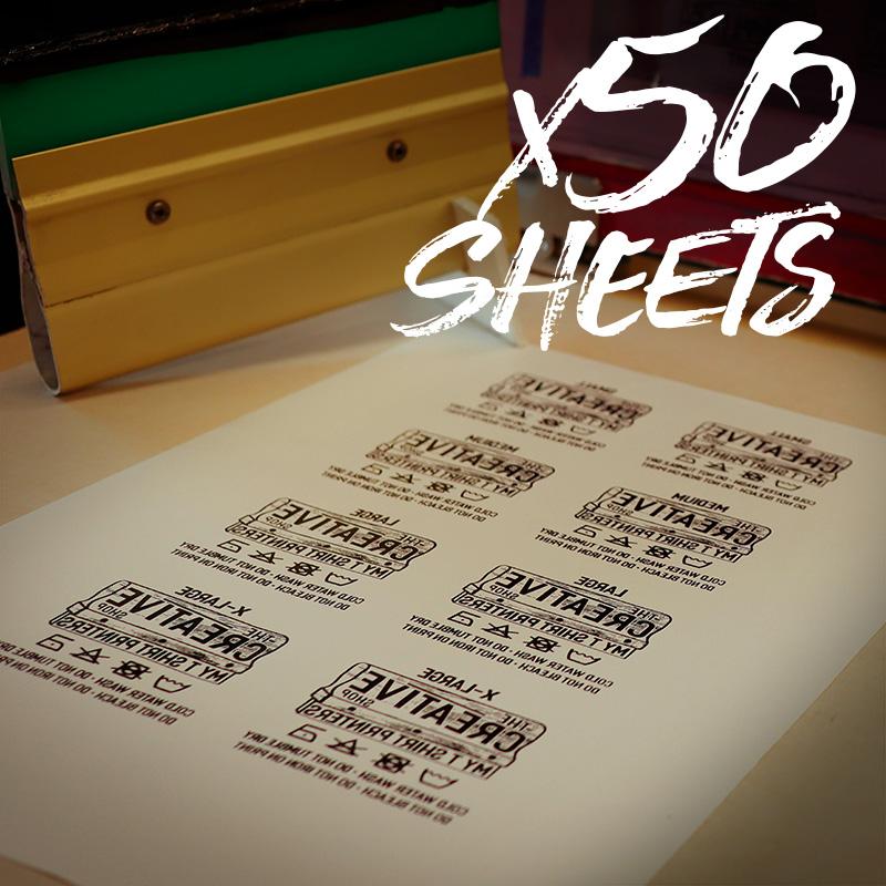 Transfer Sheets 50